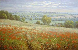 Among the Poppies by James Preston - Limited Edition on Paper sized 14x9 inches. Available from Whitewall Galleries